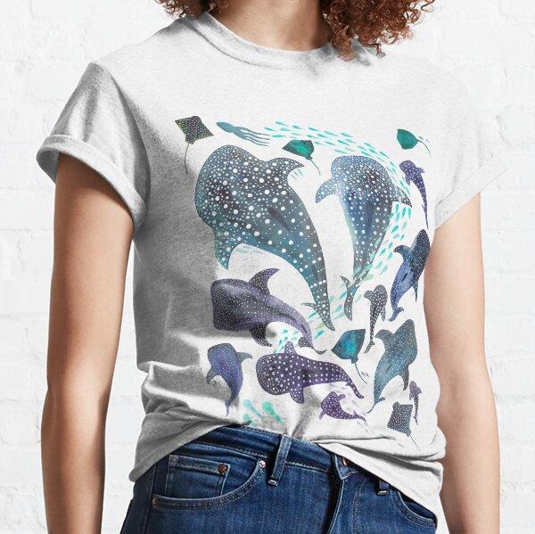 Whale Shark, Ray & Sea Creature Play Print  Classic T-Shirt