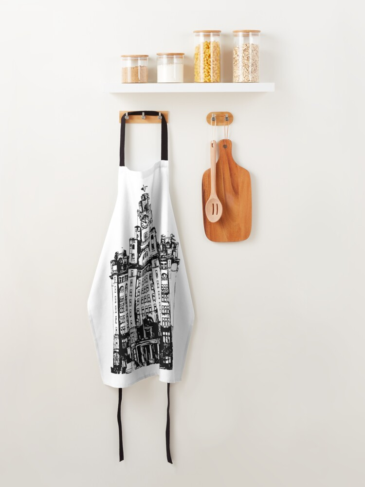 Alternate view of Liverpool Liver Building Vector Apron
