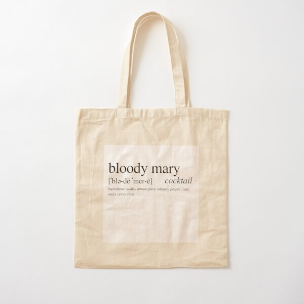 Bloody Mary - the perfect brunch cocktail with a bite! Cotton Tote Bag