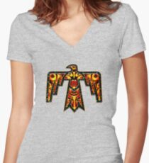 Thunderbird - Native Americans - Power & Strength Women's Fitted V-Neck T-Shirt