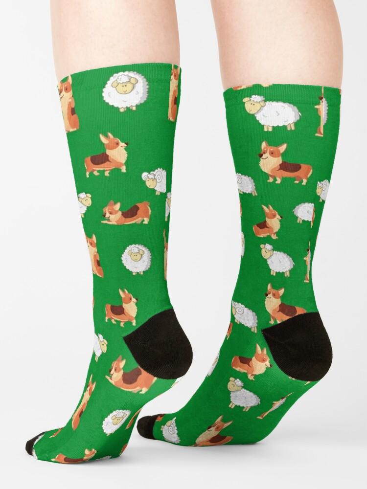 Alternate view of Corgis on the farm  Socks