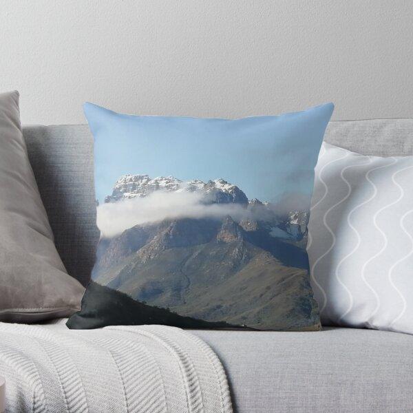 Frosty Mountain Throw Pillow