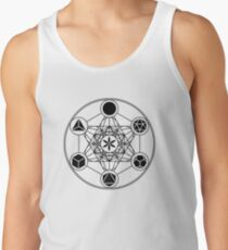 Platonic Solids, Metatrons Cube, Flower of Life Tank Top