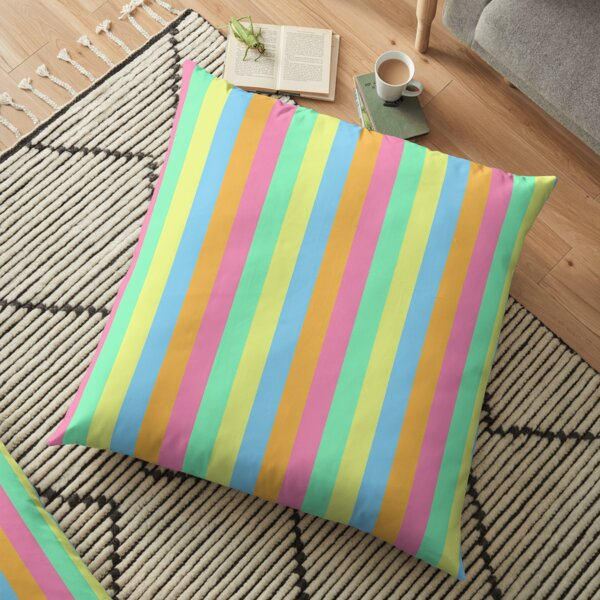 Soft Rainbow Stripes Floor Pillow