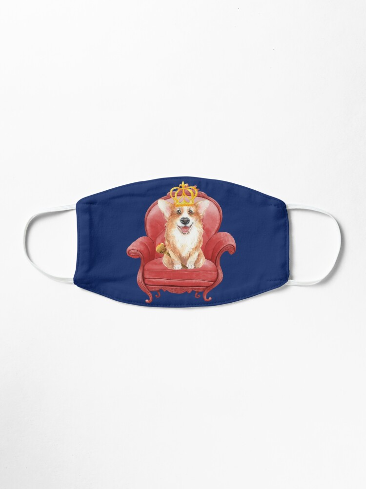 Alternate view of Her Majesty - Corgi Elizabeth  Mask