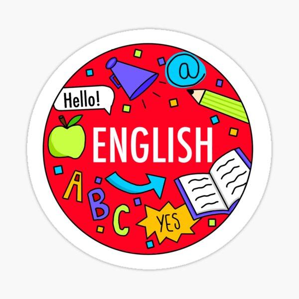 Englisch (Neonfarben) Sticker