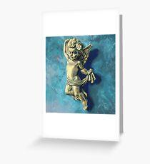 Golden Cherub Greeting Card