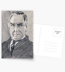 Charles Carson of Downton Abbey Postkarten