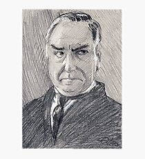 Charles Carson of Downton Abbey Photographic Print