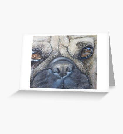 Pug face Greeting Card