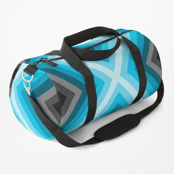 Blue X pattern  Duffle Bag