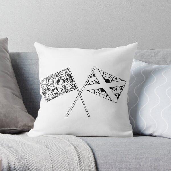 Scottish Flags Mandala Throw Pillow