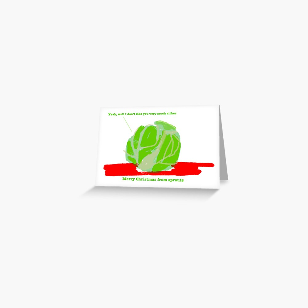 Sprouts Christmas Card #1 Greeting Card