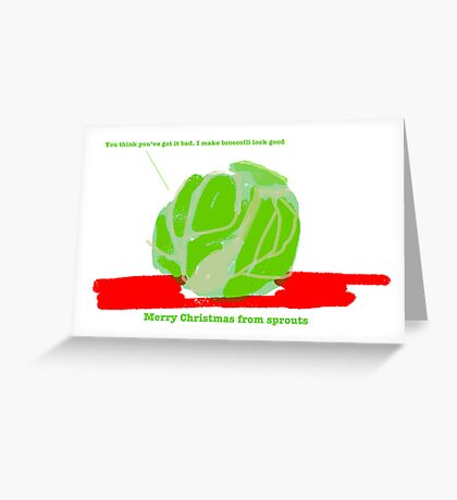 Sprouts Christmas Card #3 Greeting Card