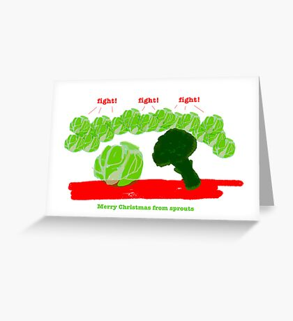 Sprouts Christmas Card #4 Greeting Card