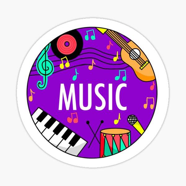 Musik (Neonfarben) Sticker