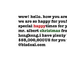 Happy Christmas Spam Christmas Card by LowHumour