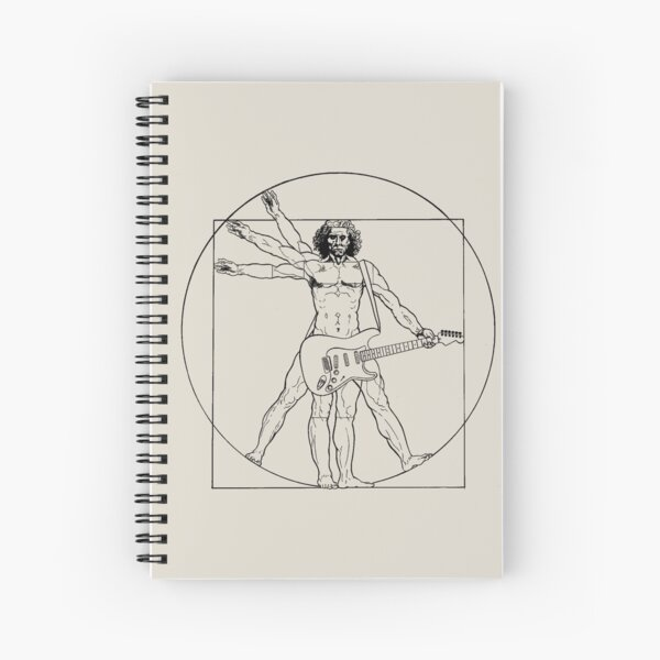 Vetruvian Rock Star  Spiral Notebook