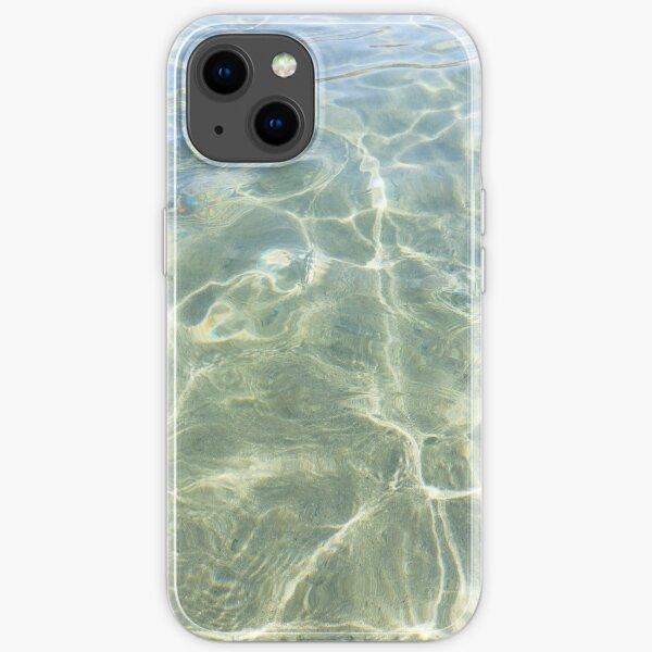 Crystal water of a Cretan beach  iPhone Soft Case