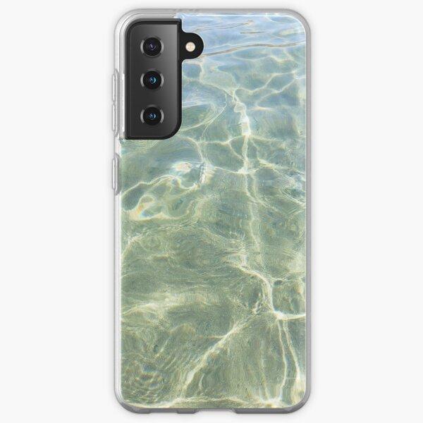 Crystal water of a Cretan beach  Samsung Galaxy Soft Case