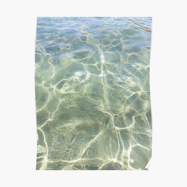 Crystal water of a Cretan beach  Poster