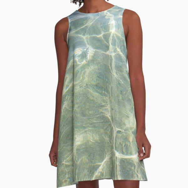 Crystal water of a Cretan beach  A-Line Dress