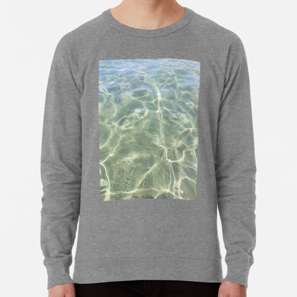 Crystal water of a Cretan beach  Lightweight Sweatshirt