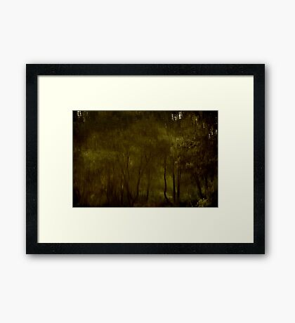 Water Colour Trees Framed Print