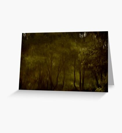 Water Colour Trees Greeting Card