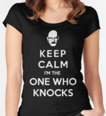 Keep Calm Im The One Who Knocks Women's Fitted Scoop T-Shirt