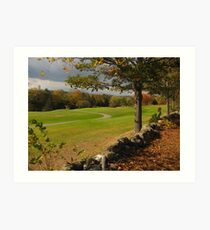 Fall on the golf course Art Print