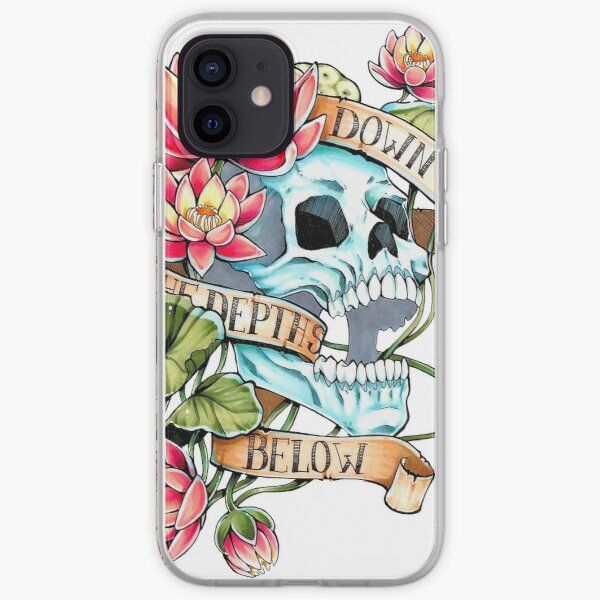 Skull and Lotus iPhone Soft Case