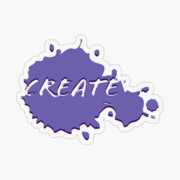 Create Paint Splatter - Purple Transparent Sticker