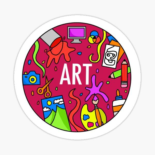 Kunst (Neonfarben) Sticker