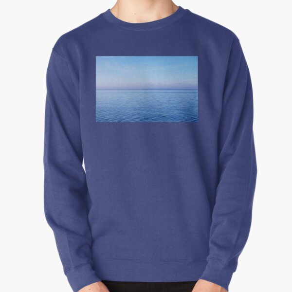 Georgian Bay Blues Abstract Pullover Sweatshirt