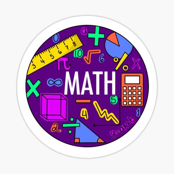 Mathe (Neonfarben) Sticker