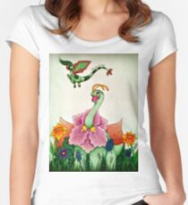 Meganium and Flygon :3 Women's Fitted Scoop T-Shirt