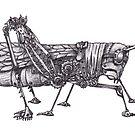 Steampunk Grasshopper by betsystreeter