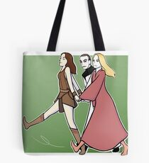 Gallifrey: we are a team! GREEN PRINT Tote Bag