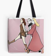 Gallifrey: we are a team! PINK PRINT Tote Bag