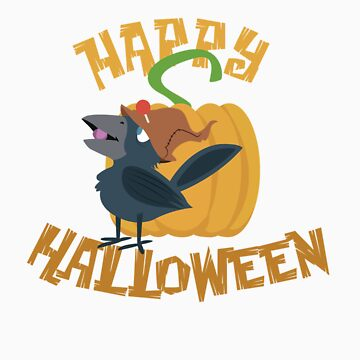 Little Halloween Crow by Dejablue