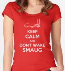 Keep Calm and Don't Wake Smaug Women's Fitted Scoop T-Shirt