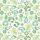 Eco symbols line art pattern by oksancia