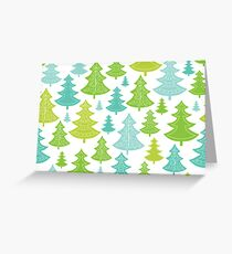 Decorative Christmas Trees Pattern Greeting Card