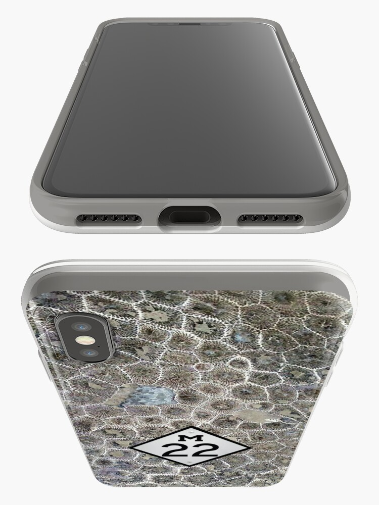 Vista alternativa de Funda y vinilo para iPhone Petoskey Stone, M22, Pure Michigan