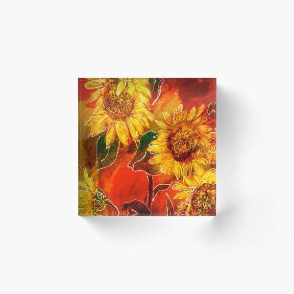 Sunflowers..... Acrylic Block