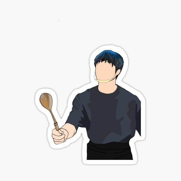 Bang Chan spoon meme minimalist Sticker
