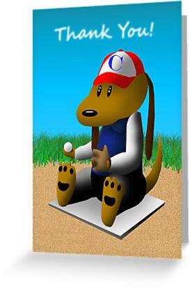 Thank You Baseball Dog by jkartlife