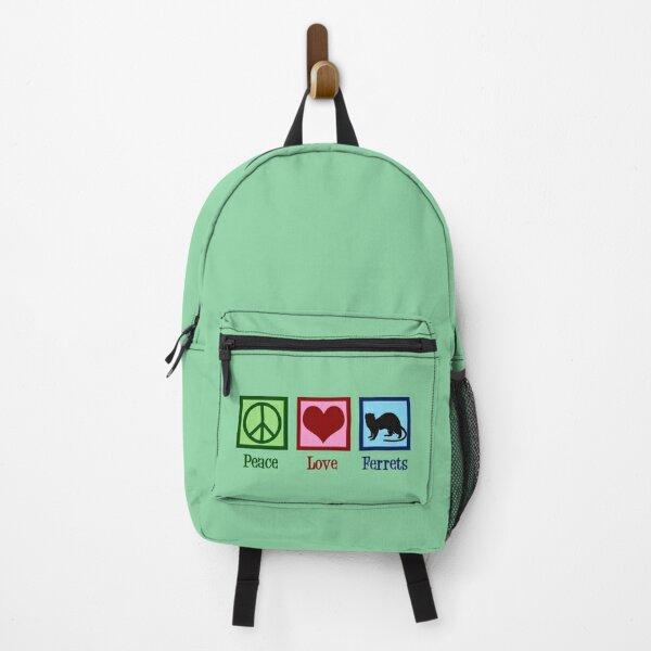 Peace Love Ferrets Backpack