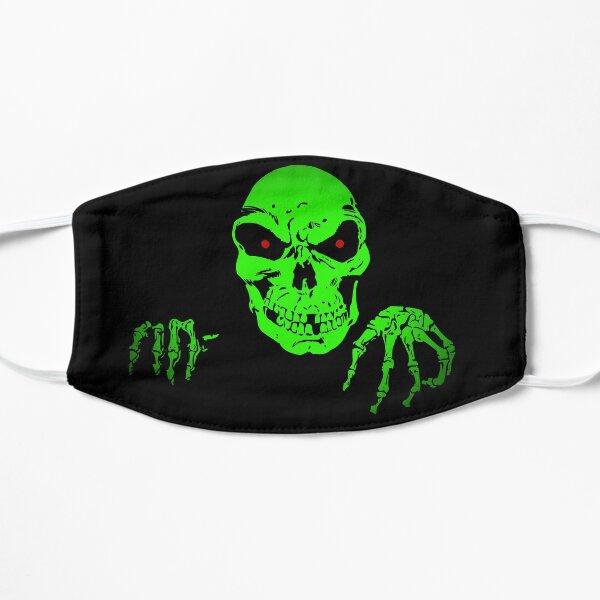 green skull Masque sans plis